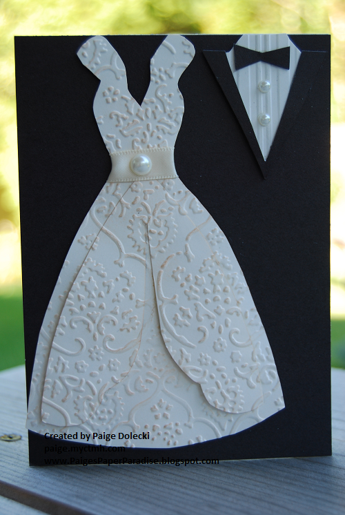 Paige Dolecki - Stampologist: Wedding Dress and Tuxedo Card