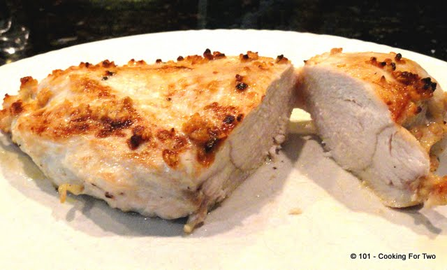 Pan Seared Oven Roasted Garlic Skinless Chicken Breast from 101 Cooking For Two