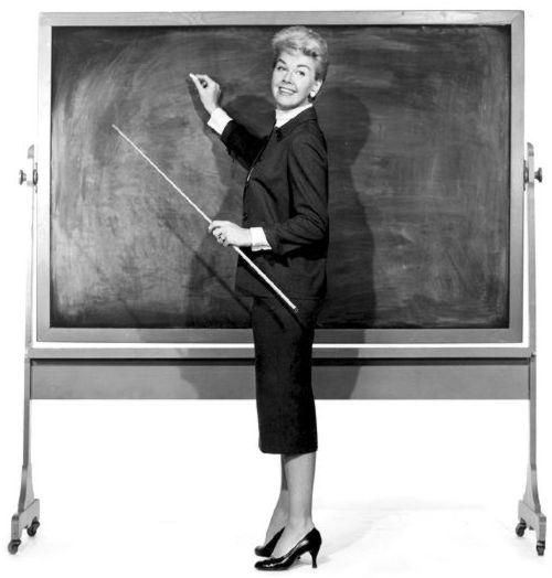 Klassisk lärarinna.