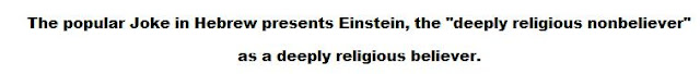 Is Einstein a deeply religious believer?