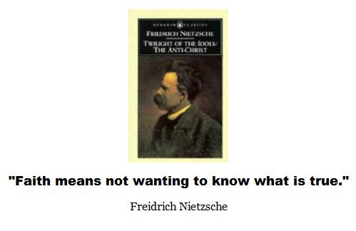 Nietzche: God is dead.  One should not go to church if one wants to breathe pure air.