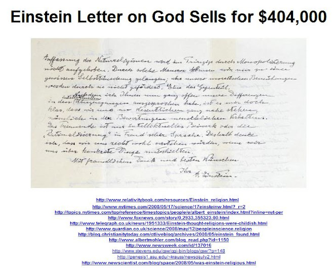 Einstein Letter on God