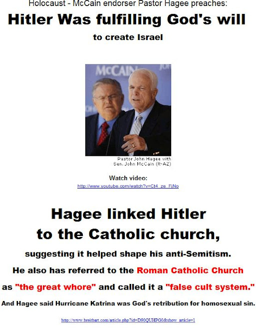 Hitler was fulfilling God's will - Pastor Hagee