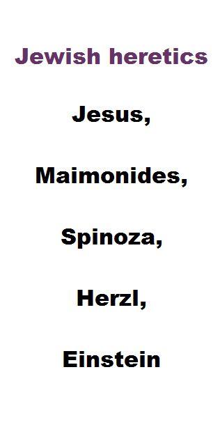 Jewish heretics