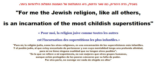 For me the Jewish religion, like all others