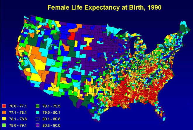 Worst female and male life expectancy is in the Bible Belt - 1
