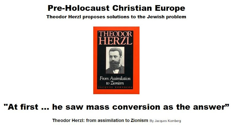 Theodor Herzl proposes solutions to the Jewish problem