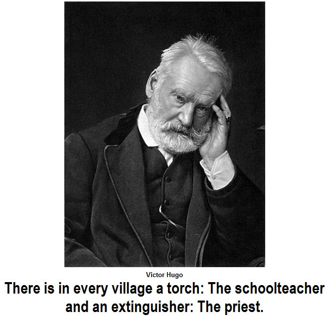 The truth of Victor Hugo about the priests