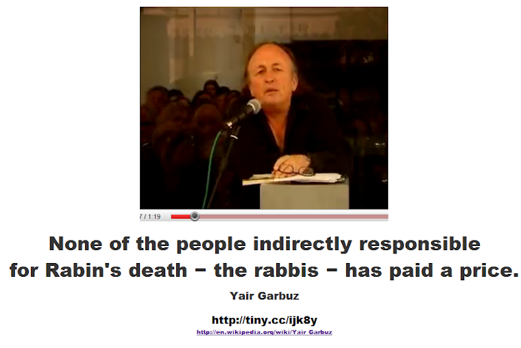 the people indirectly responsible for Rabin's death − the rabbis
