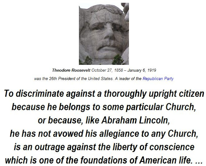 or because, like Abraham Lincoln,   he has not avowed his allegiance to any Church