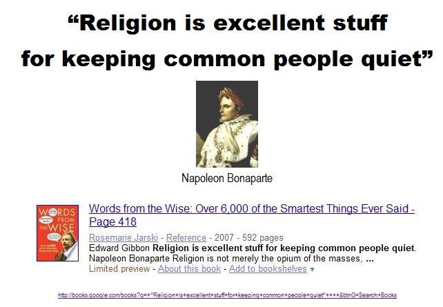 Religion is excellent stuff for keeping common people quiet - 2