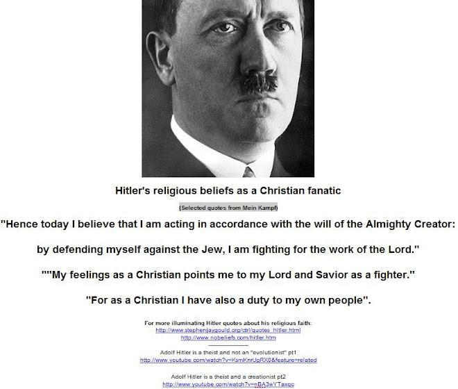 Hitler's religious beliefs as a Christian