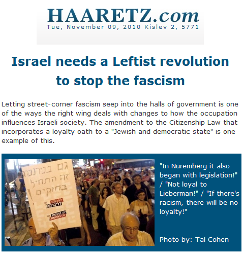Israel needs a Leftist revolution to stop the fascism