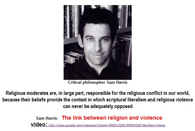 Harris -The link between religion and violence