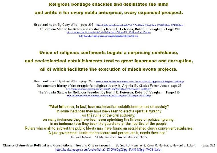 Religious bondage shackles and debilitates the mind