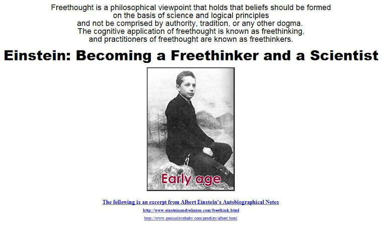 Becoming a Freethinker and a Scientist.