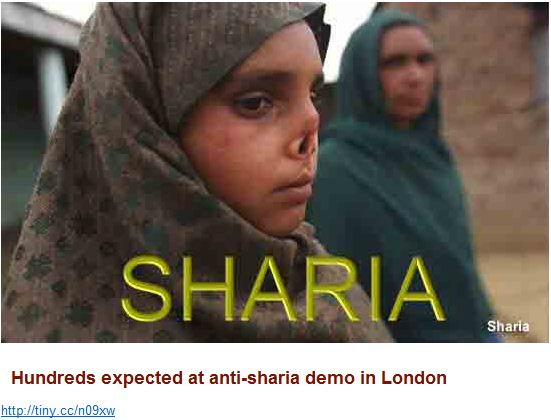 Hundreds expected at anti-sharia demo in London
