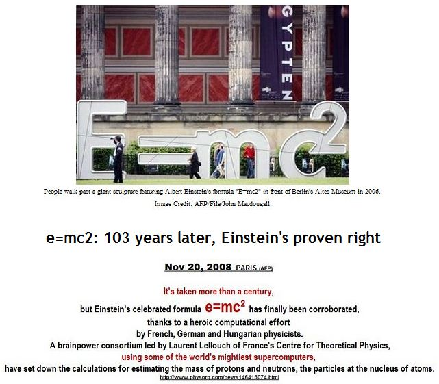 103 years later, Einstein's proven right