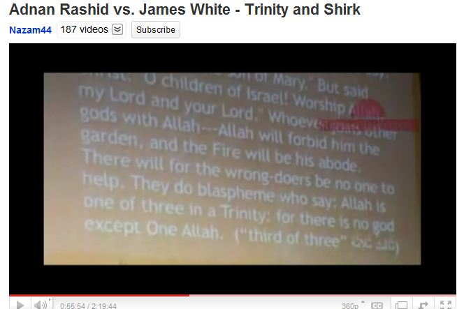 Shirk - they do blaspheme -2 - They do blaspheme who say Allah is one of three in a trinity.