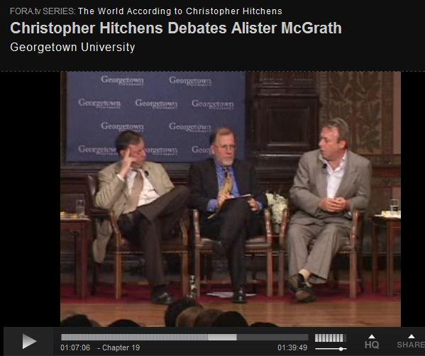 Christopher Hitchens Debates Alister McGrath