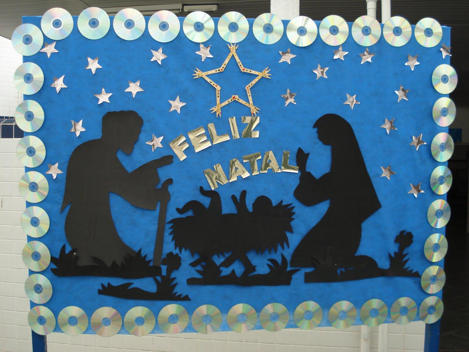 Criarte criando com arte painel de natal for Mural sobre o natal