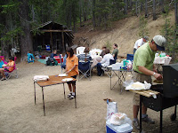 the camp at valley creek - Joe cooking