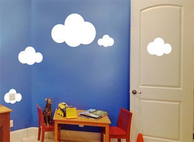 stickers muraux des d co originales avec des autocollants id e deco avec stickers nuages. Black Bedroom Furniture Sets. Home Design Ideas