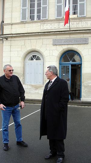 Jean-Paul Daudou à droite lors Municipales de 2008