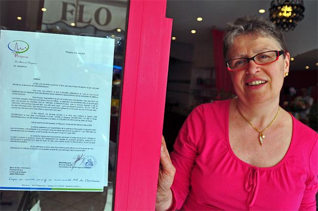 Florence Durand et lettre de Michel Moyrand maire de Périgueux
