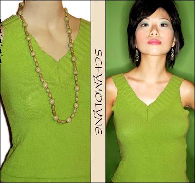 blusa regata verde de malha