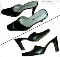 sapato muli feminino de couro