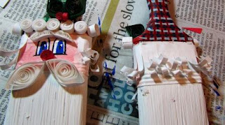 @suzy6281 #NUO2012 Paintbrush Santas quilling his hair
