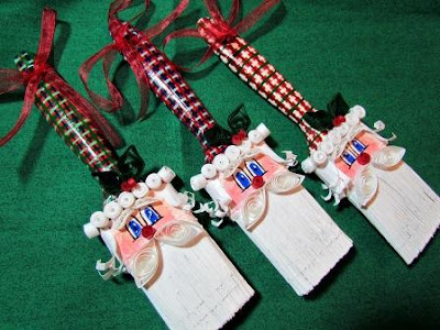 paint brush santa ornaments for christmas
