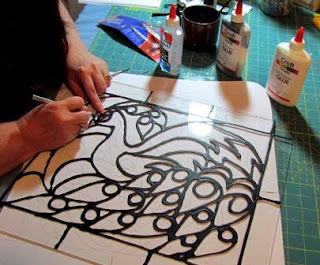 Stained glass with paint glue just paint it blog for Paint you can use on glass