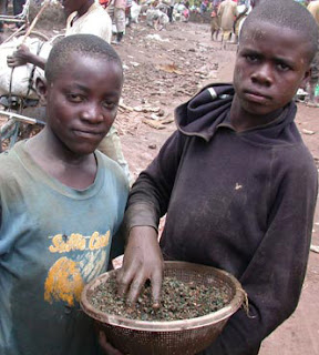 Children in the pits of the Democratic Republic of Congo.