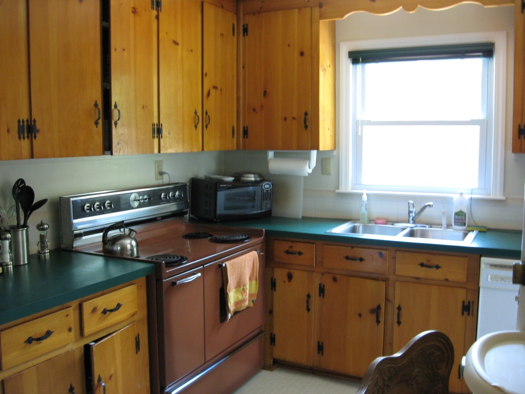 Kitchens with Knotty Pine Cabinets