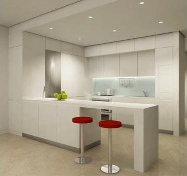 Cocinas minimalistas l neas puras y modernas en su for Techos de tablaroca modernos