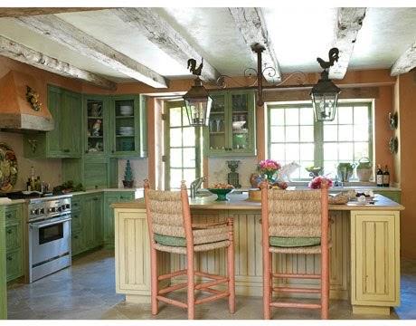 Cocina de estilo campestre moderno fotos decoractual for Disenos de cocinas campestres