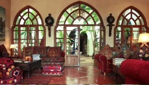 Salones estilo marroqui muebles colores decoractual - Telas marroquies ...