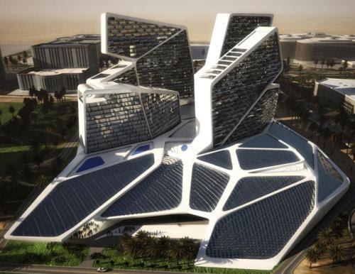Dise o de complejo de pisos lujosos futurista for Disenos de jacuzzis exteriores