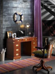 Escritorio con estilo nautico objetos decorativos for Objetos decorativos para oficina