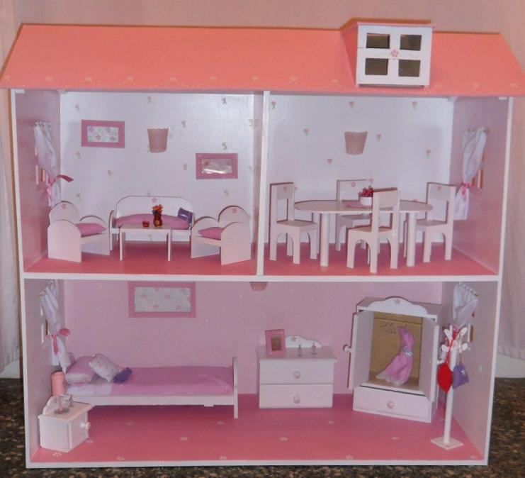 Ideal para las ni as casa de mu ecas con todos los detalles hogar decoraci n y dise o - Decoracion de casas de munecas ...