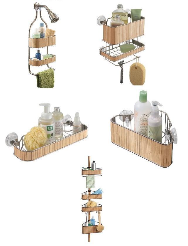 organizadores de duchas en bambu accesorios para ba os