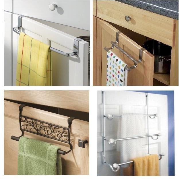 Toalleros barras sobre gabinetes ahorra espacio for Colgar toallas ducha