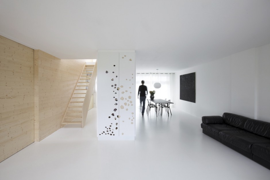Dise o de departamento amplio moderno y minimalista fotos decoractual d - Sol resine blanc brillant ...