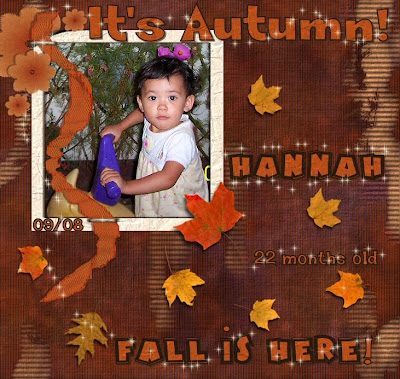 autumn scrap layout