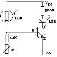 TOGGLE: LDR :-Light dependent resistors