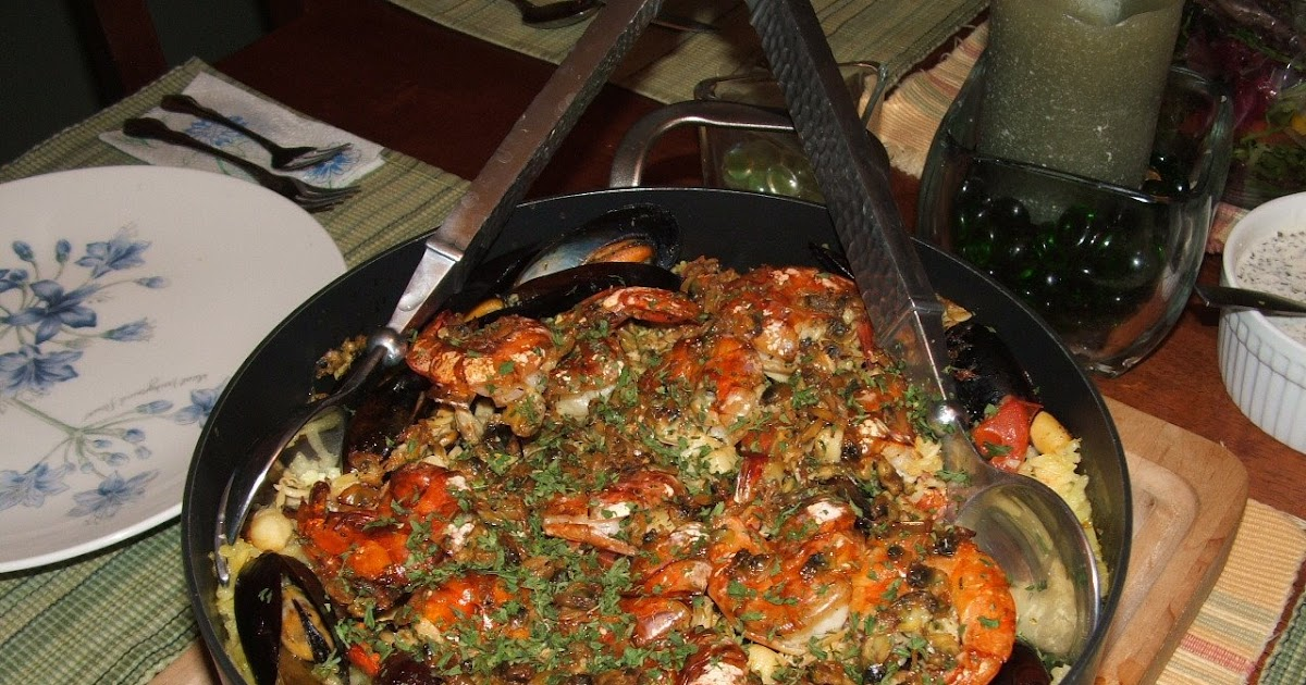 cuisine with chilean flavor seafood paella
