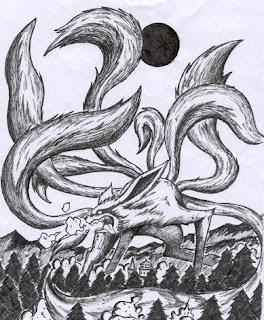 como el zorro de las nueve colas atacó la aldea oculta de konoha los