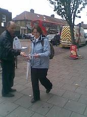 وقفة تضامن مع شهداء اسر ابوسليم في غرب لندن ساوط هرروا بتاريخ 2 اكتوبر 2010